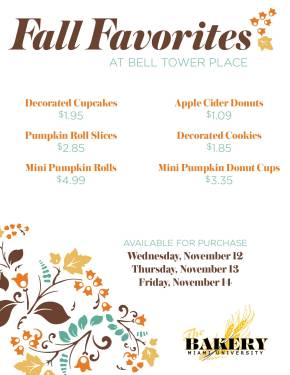 Fall Bakery Promo 2014 posters2