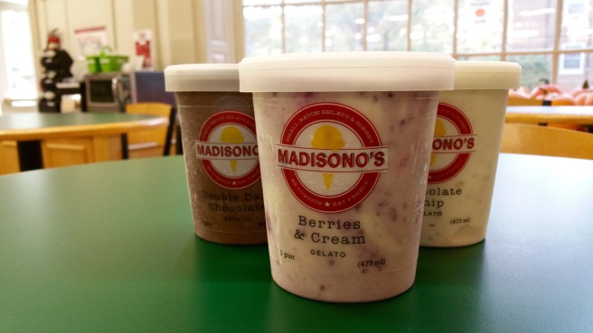 Madisono's is from Cincinnati. They make sorbet and gelato, which can be found at MacCracken.