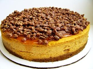 Caramel Pecan Pumpkin Cheesecake