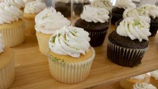 Mardi Gras themed cupcakes