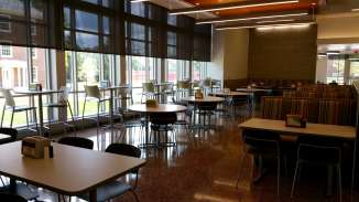 There is a variety of seating, perfect for guests to eat, study and relax.