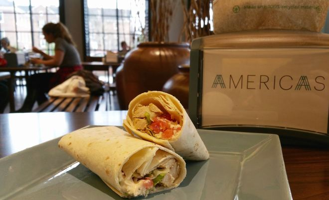 The chicken caesar wrap, briefly available at Americas, was a limited time offer over the first week of February.