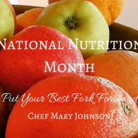 Talking National Nutrition Month with Chef Mary Johnson