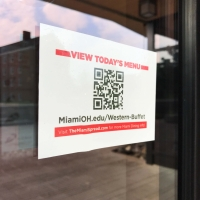 QR Codes for Campus Dining