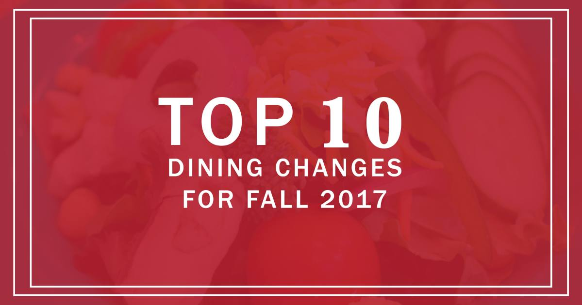 Top 10 Dining Changes for Fall 2017