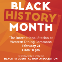 Celebrate Black History Month at Western Dining Commons