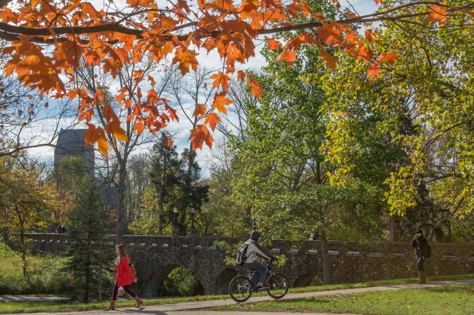 Bicycling on Miami University Campus